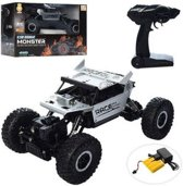 RC AUTO 2.4GHZ MONSTER 4WD METAL CRAWLER 1:18 |zilver