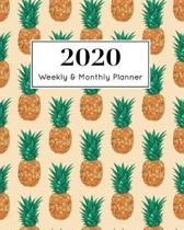 2020 Weekly & Monthly Planner: January 1st - December 31st 2020 - Organizer Schedule Journal for 2020 - Pineapple Fruit Tropical - 8 x 10'' -