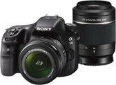 Sony Alpha SLT-A58 + 18-55mm II + 55-200 mm II - Spiegelreflexcamera - Zwart