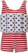 Beverly Kids UV drijfpakje Kinderen American Dream - Rood - Maat 86