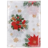 Excellent Houseware Tafelkleed -  Kerst Thema - 180x130 cm - Wit