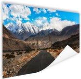 Eindeloze weg richting de Himalaya Poster 180x120 cm - Foto print op Poster (wanddecoratie woonkamer / slaapkamer) / Natuur Poster XXL / Groot formaat!