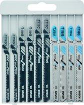 Bosch 10-delige decoupeerzaagbladenset Basic for Metal and Wood