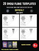 Xmas Crafts (28 snowflake templates - Fun DIY art and craft activities for kids - Difficult)
