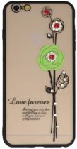Groen Love Forever back case Hoesje voor Apple iPhone 6 / 6s Plus