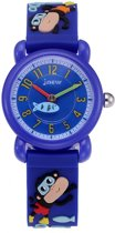 Kinderhorloge Aapjes – 3D Watch – Donkerblauw - Kids Watch
