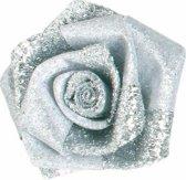 Roosjes glam buds zilver 20MM / 24 ST