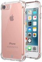Hoesje voor Apple iPhone 8 - Siliconen Hoesje met Versterkte Rand Shockproof Transparant Doorzichtig, TPU Gel Soft Hoesje
