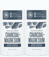 Schmidt's Deodorant Stick Charcoal & Magnesium – 2 stuks