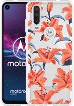Motorola One Action Hoesje Flowers