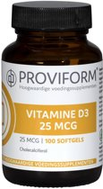 Proviform Vitamine D3 25µ-1000ie - 100 Softgels - Vitaminen