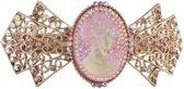 Clayre & Eef haarspeld medaillon strass roze