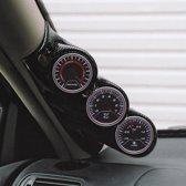 RGM A-Pillarmount Links - 3x 52mm - Citroën Saxo/Peugeot 106 - Carbon-Look