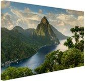 Sint-Lucia Canvas 120x80 cm - Foto print op Canvas schilderij (Wanddecoratie woonkamer / slaapkamer)