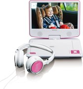 "Lenco DVP-910 - 9"" Portable DVD-speler - Roze/Wit"