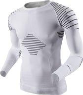 X-Bionic Invent Longsleeve Shirt Heren Sportshirt performance - Maat S  - Mannen - wit/zwart