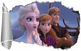 Muursticker Frozen 2  XL poster 3D muur kinderkamer