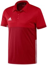 adidas T16 'Oncourt' Polo Heren - Shirts  - rood - XS