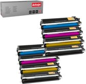 Compatible Promo pakket 8 toner Brother  TN-230  2 x (CMY (12400.00 pag/ml )