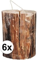 6x zweedse fakkel 20 x 10 cm