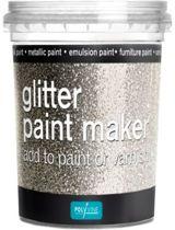 Polyvine glitter paint maker Zilver