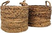 HSM Collection Mandenset Malibu - Waterhyacint - naturel - set van 2