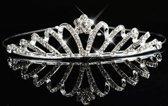 Moderne Zilverkleurige Tiara / Kroon