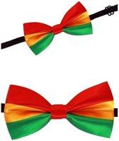 Luxe strikje rood/geel/groen