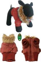 Boony - hondenjas stretcher Met bontkraag rood 28cm