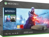 Xbox One X console 1 TB (Gold Rush Special Edition) + Battlefield V (Deluxe Edition) + Battlefield 1943