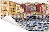 De drukbezochte haven van de Franse stad Nice Tuinposter 60x40 cm - klein - Tuindoek / Buitencanvas / Schilderijen voor buiten (tuin decoratie)