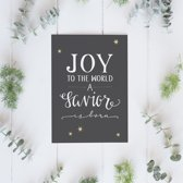 Lifeprints Joy to the world kerstkaart