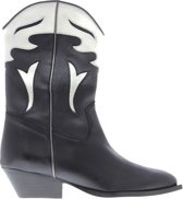 Tango | Nina oblique 3-a high leather western boot - black heel/sole | Maat: 40