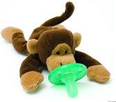 Wubbanub - Aap - Speenknuffel / Knuffelspeen / Fopspeen met knuffel / De Wubbanub wordt geleverd in een verzegeld geschenkdoosje - Winnaar beste babyproduct in 2014
