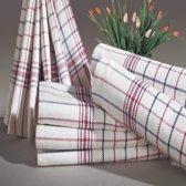 Homéé - Theedoeken National rood / blauw ruiten 100% katoen | set van 12 stuks | 70x70cm