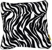 Mycha Ibiza - Sierkussen - kussen - 60 x 60 cm - Zwart Wit - katoen - met rits - Zebra