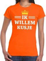 Oranje Ik Willem kusje t-shirt dames S