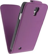 Xccess Leather Flip Case Sams S4  Purple