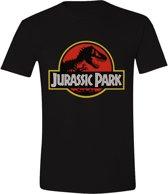 Jurassic Park - Classic Logo Mannen T-Shirt - Zwart - M
