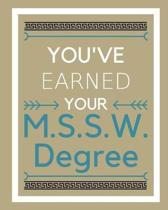 You've Earned Your M.S.S.W. Degree