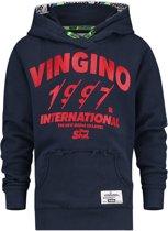 Vingino Jongens Sweater - Dark Blue - Maat 140