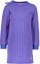 Kidz-Art Meisjes Gebreide jurk - Mid blue - Maat 134/140