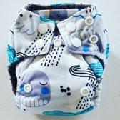 AN8 AIO Newborn wasbare Pocket luier zee
