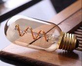 Vintage LED Lamp T45 4W Gold 2700K Twisted Dimbaar