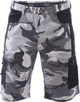 Camouflage korte broek wit maat XL