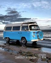 Campervan Maintenance Log Book: For Motorhomes, Campers, RVs and Caravans - VW Bus on the Beach at Dusk
