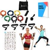 Fitness Elastiek Set XL - 6 Weerstandselastieken - Gratis E-book