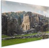 Zonnestralen over de Tintern Abbey in Wales Plexiglas 90x60 cm - Foto print op Glas (Plexiglas wanddecoratie)