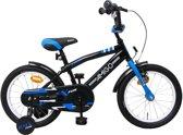 AMIGO - BMX Fun - Kinderfiets - 16 Inch - Jongens - Zwart/Blauw
