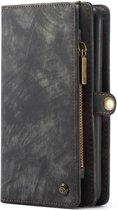 Caseme - Samsung Galaxy A50 Hoesje - Uitneembare Portemonnee Vintage Zwart